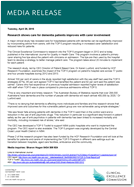 Media Release: 27 April 2015 - Research shows care for dementia patients improves with carer involvement