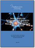 Service Quality and Communication in Emergency Department Waiting Rooms - Report