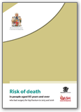 In 2015-2016 - Risk of Death in people aged 85 and over who had surgery for hip fractures.