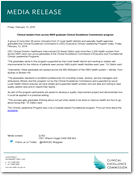 Media Release: 12 February 2016 - Clinical leaders from across NSW graduate Clinical Excellence Commission program